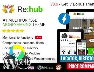WordPress主题-响应式商城主题-多功能商城主题-Rehub汉化版【V8.1.4】
